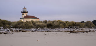 Coquille River Lighthouse Nautical Beach Landscape Royalty Free Stock Photos