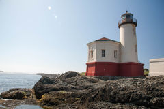 Coquille River Lighthouse above the river Stock Photos