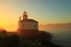 Coquille River Lighthouse - Bandon Beach. The nice little lighthouse is situated at the mouth of coquille river in Bandon Beach at the Oregon coast Stock Image