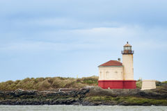 Coquille River Lighthouse in Bandon, Oregon Royalty Free Stock Image