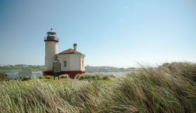 Coquille River Lighthouse With Swaying Grasses Stock Images