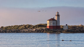 Coquille Rzeczna latarnia morska, Bandon, Oregon Zdjęcia Royalty Free