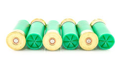 12 coquilles de fusil de chasse de mesure utilisées pour la chasse Photographie stock