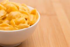 Coquilles et fromage de macaronis photo libre de droits