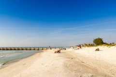Coquina beach on Anna Maria Island Stock Photos