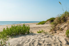 Coquina Beach on the Outer Banks in Nags Head Stock Photography
