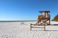 Coquina plaża na Anna Maria wyspie, Floryda zdjęcia stock