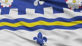 Coquitlam miasta flaga, Kanada, kolumbia brytyjska prowincja, zbliżenie widok Ilustracja Wektor