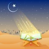 Corán en el fondo feliz de Eid Imágenes de archivo libres de regalías