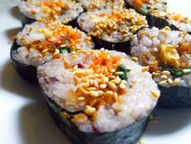 Coréen délicieux Kimbap image libre de droits