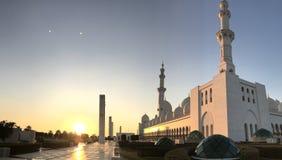Cor árabe do por do sol com branco foto de stock royalty free