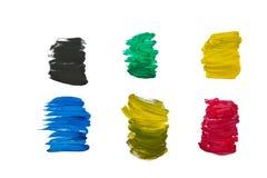 Caráteres numéricos da argila colorida. Fotografia de Stock