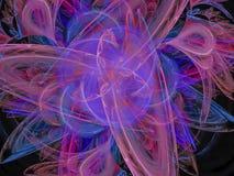 Cor abstrata do fractal, energia artística digital do molde do fluxo do movimento da fantasia ilustração stock