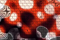 Cor abstrata dos tijolos Imagem de Stock