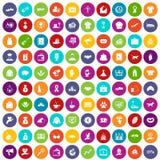 100 cor ajustada da caridade ícones ilustração royalty free