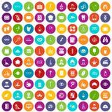 100 cor ajustada da profissão ícones ilustração royalty free