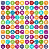 100 cor ajustada da venda ícones ilustração stock