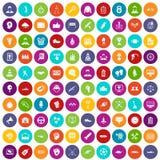 100 cor ajustada da vitória ícones ilustração do vetor