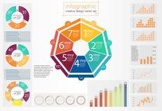 Cor ajustada de Infographic Vetor info ilustração stock