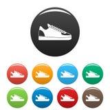 Cor ajustada dos ícones das sapatilhas da batida ilustração do vetor