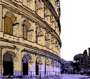 Cor Art Sketch de Digitas do Colosseum em Roma Itália ilustração royalty free