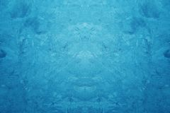 Cor azul criativa áspera e fundo concreto da textura do Grunge fotografia de stock