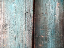 Cor azul da textura da prancha de madeira Foto de Stock Royalty Free