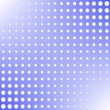 Cor branca dos pontos do estilo de intervalo mínimo do pop art do fundo no elemento azul do projeto do fundo para bandeiras da We Imagem de Stock