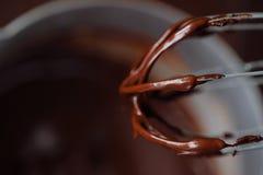 Cor castanho chocolate quente grossa deliciosa Imagem de Stock