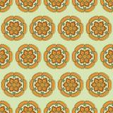 Cor chinesa do teste padrão de flor Fotos de Stock