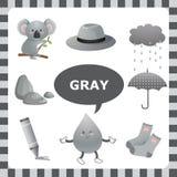 Cor cinzenta ilustração stock