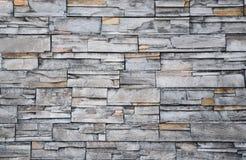 Cor cinzenta do teste padrão da parede de pedra decorativa Foto de Stock Royalty Free