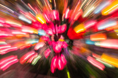 Cor colorida da luz da lâmpada do borrão de movimento imagem de stock royalty free