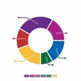 cor completa do projeto liso gráfico da informação, projeto da matemática do gráfico Imagem de Stock Royalty Free