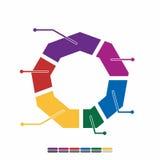 cor completa do projeto liso gráfico da informação, projeto da matemática do gráfico Foto de Stock Royalty Free