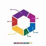 cor completa do projeto liso gráfico da informação, projeto da matemática do gráfico Foto de Stock