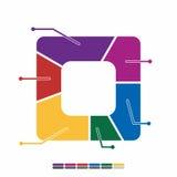 cor completa do projeto liso gráfico da informação, projeto da matemática do gráfico Imagens de Stock