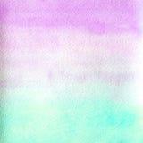 Cor cor-de-rosa da textura da aquarela e azul de mármore transparente Fundo abstrato da aguarela inclinação horizontal Fotografia de Stock Royalty Free