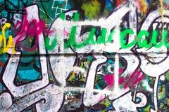 Cor criativa abstrata do fundo dos grafittis Imagens de Stock