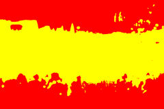 Cor da bandeira espanhola Fotografia de Stock