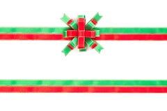 Cor da curva do Natal vermelha, verde e do ouro isolada no backgr branco Imagem de Stock