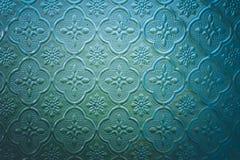 A cor da janela de vitral decora na construção Imagens de Stock Royalty Free