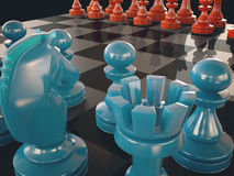 Cor da placa de xadrez Imagens de Stock