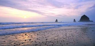 Cor da praia do canhão Foto de Stock Royalty Free