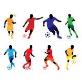 Cor da silhueta do futebol Ilustração Royalty Free
