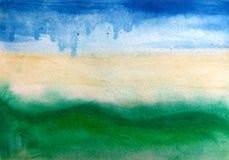 Cor de água abstrata do scape do mar do fundo Foto de Stock