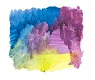 A cor de água afaga a pintura ilustração do vetor