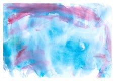 A cor de água afaga a pintura pela criança no fundo branco Imagem de Stock Royalty Free