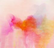 Cor de água colorida abstrata para o fundo Fotos de Stock