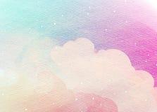 Cor de água colorida abstrata para o fundo Imagem de Stock